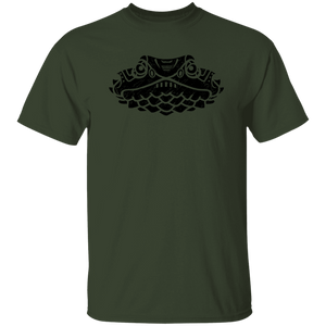Black Distressed Emblem T-Shirt for Kids (Lizard/Queenie)