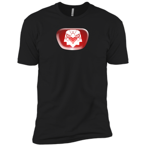 Chest Emblem T-Shirt Boys' Red Bear - Dark Corps