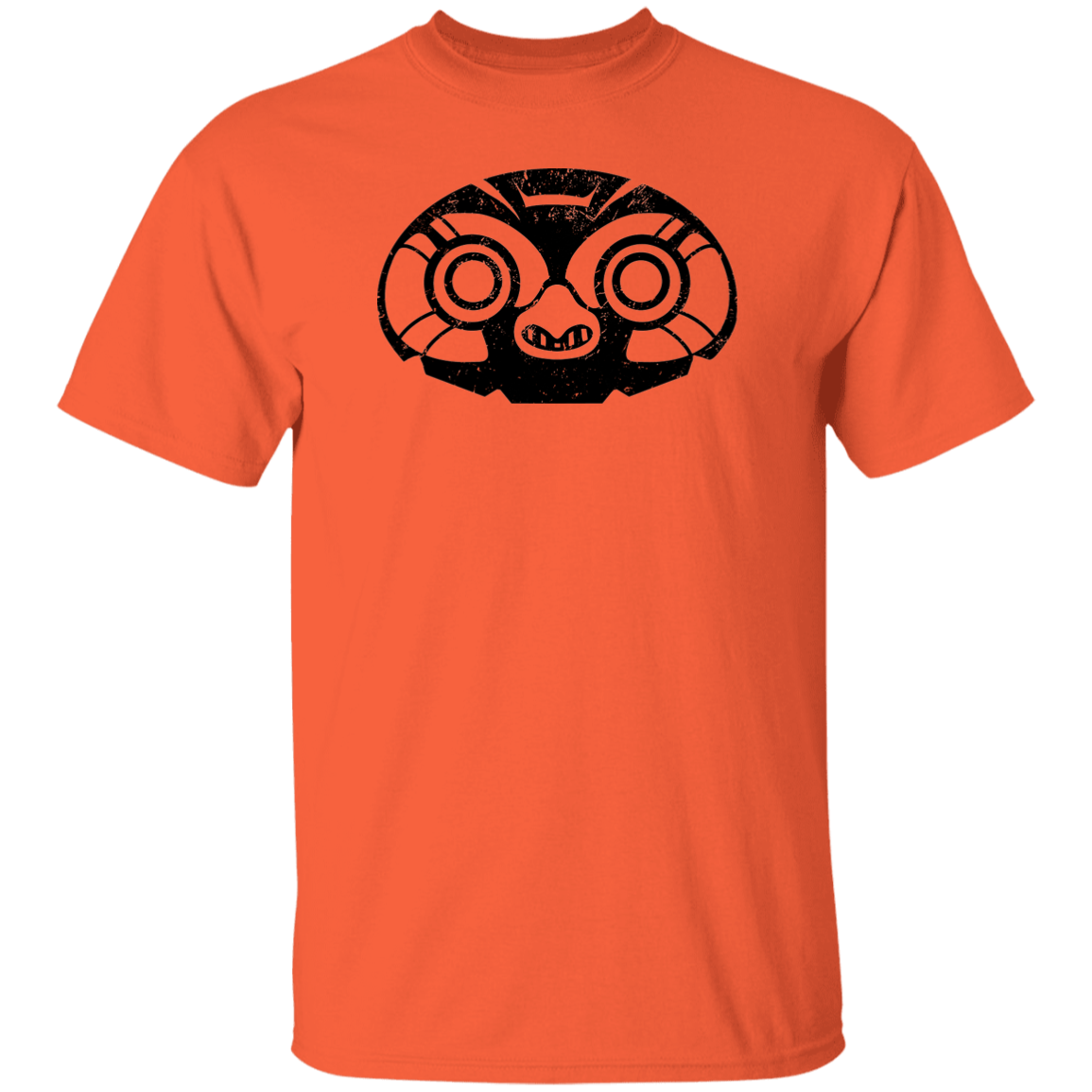 Black Distressed Emblem T-Shirt for Kids (Elf Owl/Peeps)