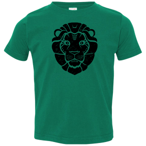 Black Distressed Emblem T-Shirt for Toddlers (Lion/Leo)