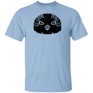 Black Distressed Emblem T-Shirt for Kids (Snow Owl/Valor)