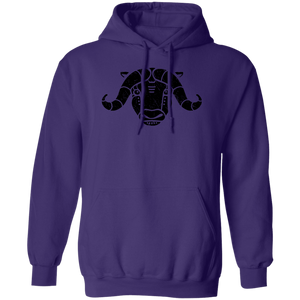 Black Distressed Emblem Hoodies for Adults (Musk Ox/Moxie)