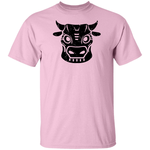 Black Distressed Emblem T-Shirt for Kids (Cow/Ud)