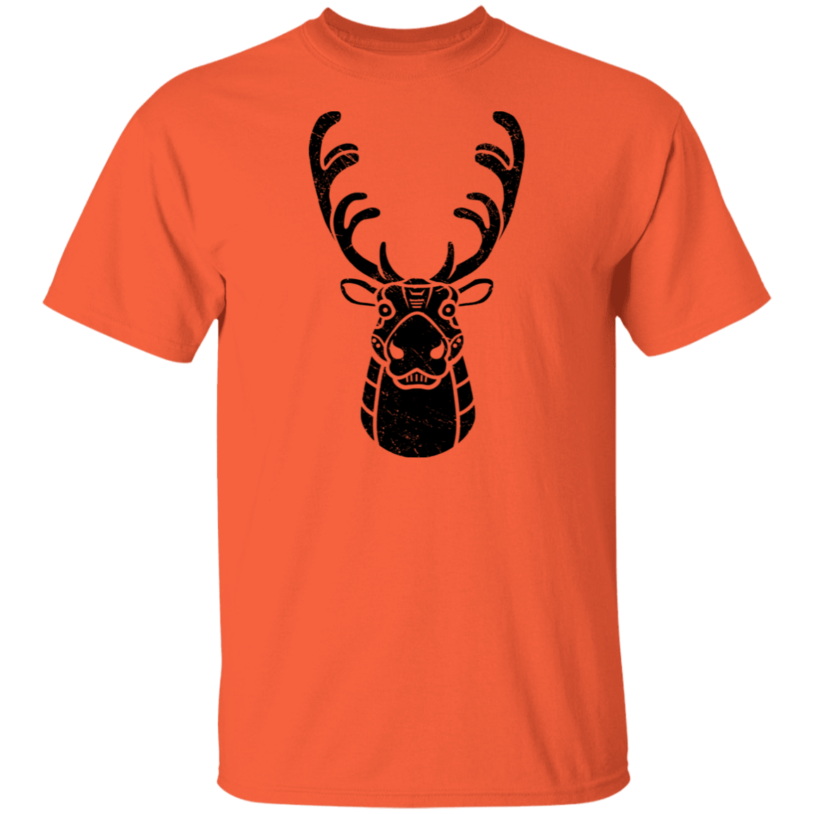 Black Distressed Emblem T-Shirt for Kids (Caribou/Spirit)