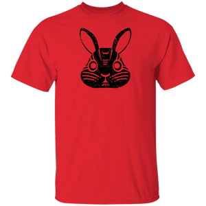 Black Distressed Emblem T-Shirt for Kids (Rabbit/Lucky)