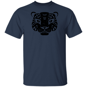 Black Distressed Emblem T-Shirt for Kids (Snow Leopard/Denali)