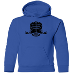 Black Distressed Emblem Hoodies for Kids (Whale/Moby)