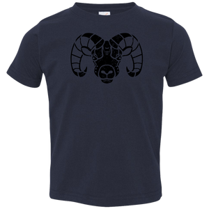 Black Distressed Emblem T-Shirt for Toddlers (Longhorn/Matterhorn)