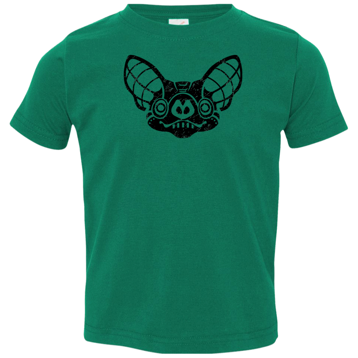 Black Distressed Emblem T-Shirt for Toddlers (Bat/Radar)
