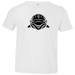 Black Distressed Emblem T-Shirt for Toddlers (Dolphin/Clicker) - Dark Corps