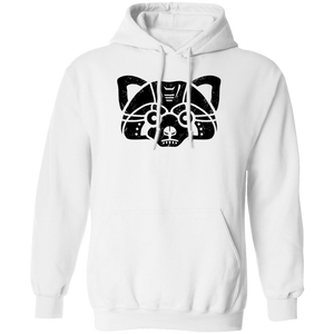 Black Distressed Emblem Hoodies for Adults (Red Panda/Himalaya)