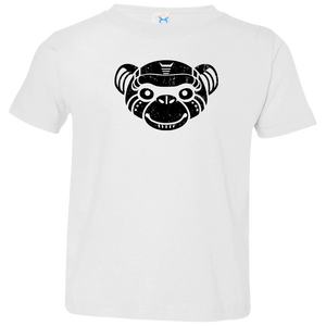 Black Distressed Emblem T-Shirt for Toddlers (Monkey/Fix) - Dark Corps