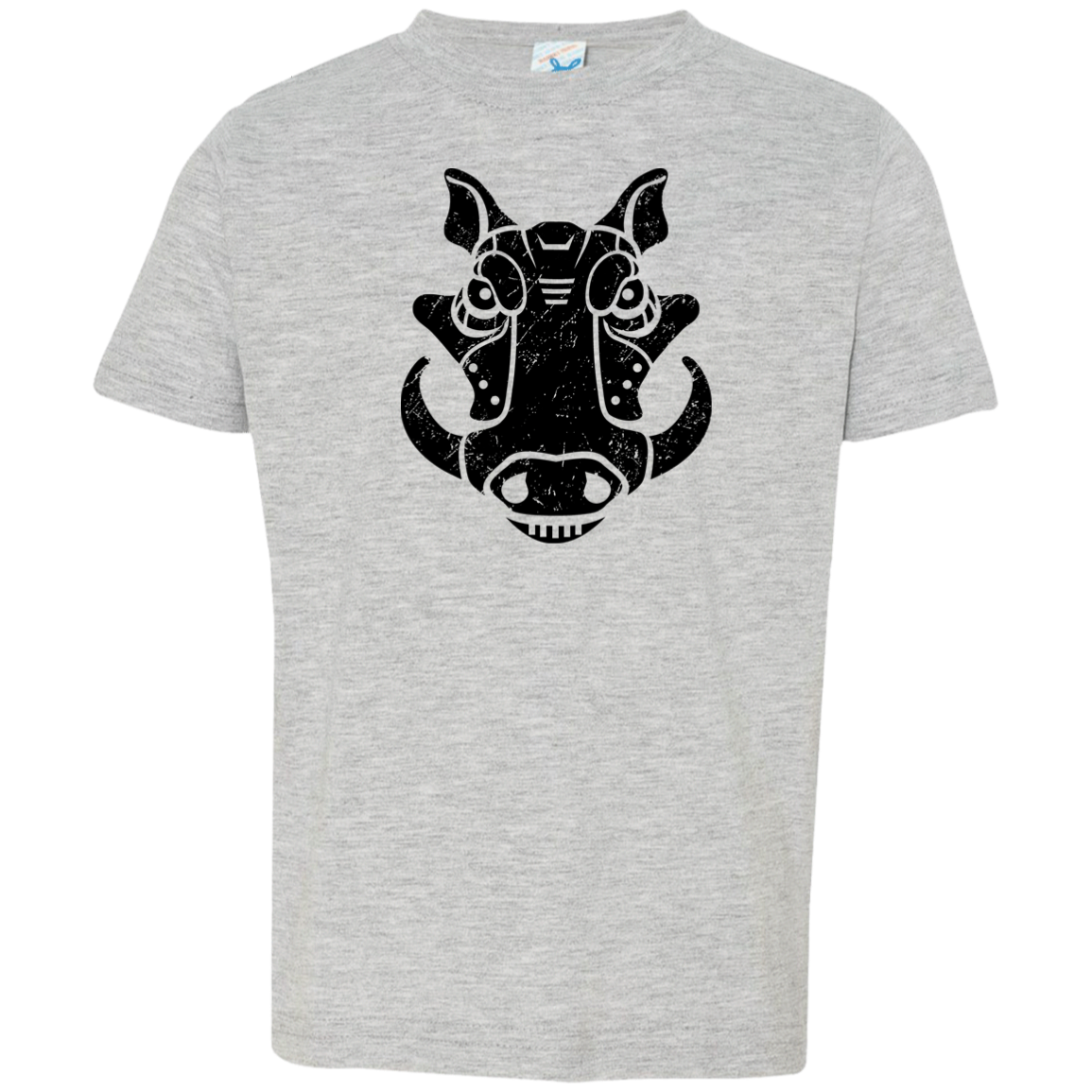 Black Distressed Emblem T-Shirt for Toddlers (Warthog/Bumper)