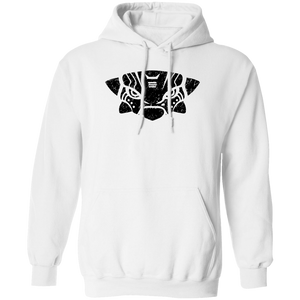 Black Distressed Emblem Hoodies for Adults (Ankylosaurus/Grump)