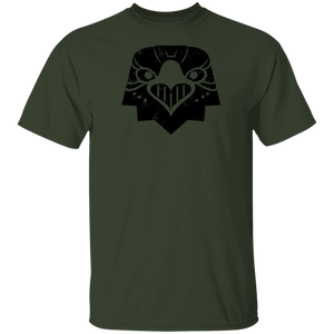 Black Distressed Emblem T-Shirt for Kids (Eagle/Eagle-Eye)