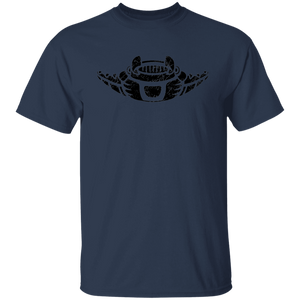 Black Distressed Emblem T-Shirt for Kids (Manta Ray/Glider)