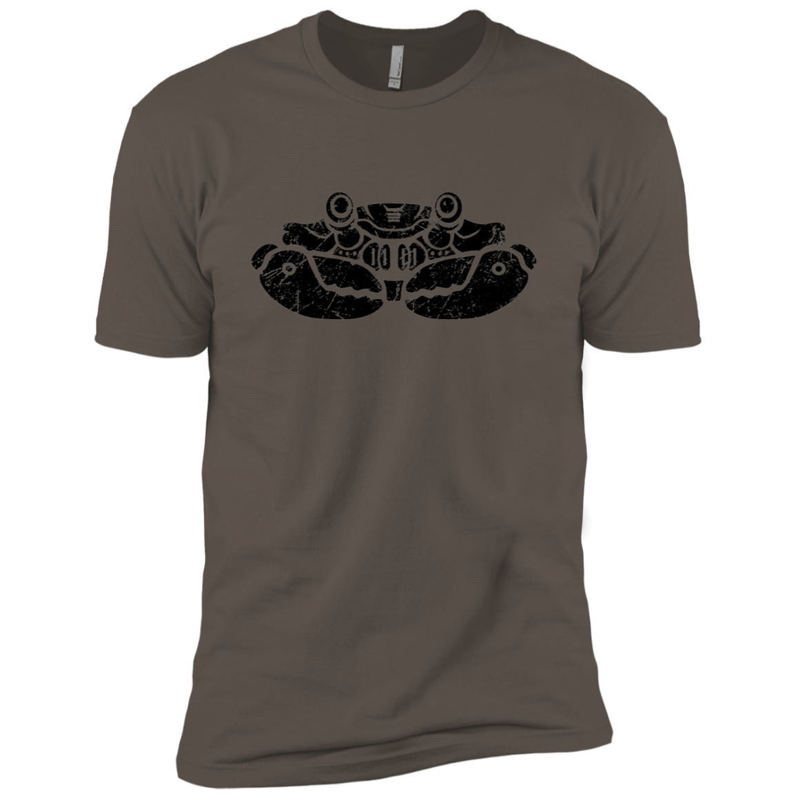 Black Distressed Emblem (Crab) - Dark Corps