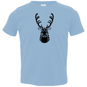Black Distressed Emblem T-Shirt for Toddlers (Caribou/Spirit)
