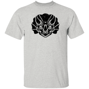 Black Distressed Emblem T-Shirt for Kids (Triceratops/Trips)