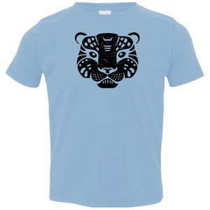 Black Distressed Emblem T-Shirt for Toddlers (Snow Leopard/Denali)