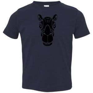 Black Distressed Emblem T-Shirt for Toddlers (Camel/Bob)