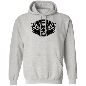 Black Distressed Emblem Hoodies for Adults (Otter/Boxer)