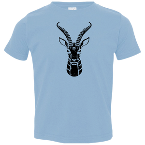 Black Distressed Emblem T-Shirt for Toddlers (Gazelle/Grace)