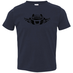 Black Distressed Emblem T-Shirt for Toddlers (Manta Ray/Glider)