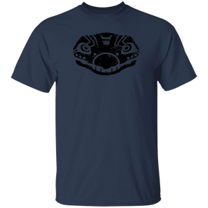 Black Distressed Emblem T-Shirt for Kids (Stegosaurus/Bones)