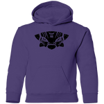 Black Distressed Emblem Hoodies for Kids (Ankylosaurus/Grump)