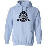 Black Distressed Emblem Hoodies for Adults (Shark/Whitetip)
