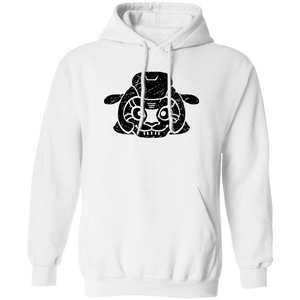 Black Distressed Emblem Hoodies for Adults (Sheep/Split)