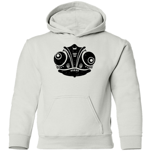 Black Distressed Emblem Hoodies for Kids (Chameleon/Fade)