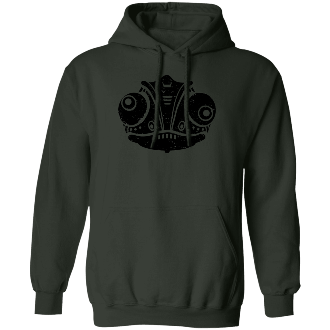 Black Distressed Emblem Hoodies for Adults (Chameleon/Fade)