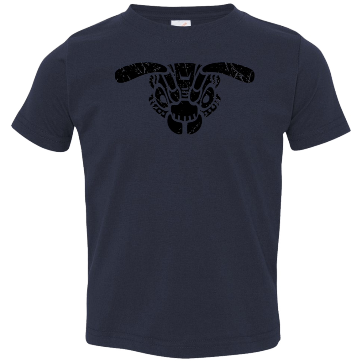 Black Distressed Emblem T-Shirt for Toddlers (Buzz Squadron)