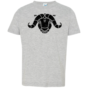Black Distressed Emblem T-Shirt for Toddlers (Musk Ox/Moxie)