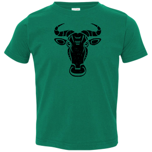 Black Distressed Emblem T-Shirt for Toddlers (Wildebeest/Brute)