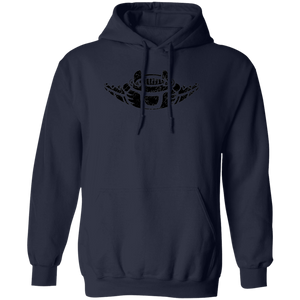 Black Distressed Emblem Hoodies for Adults (Manta Ray/Glider)