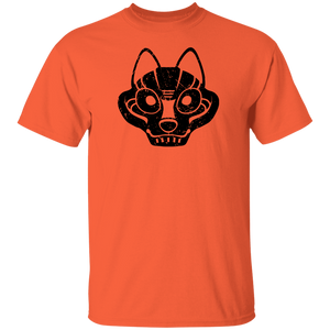 Black Distressed Emblem T-Shirt for Kids (Wolf/Wolf Squad)
