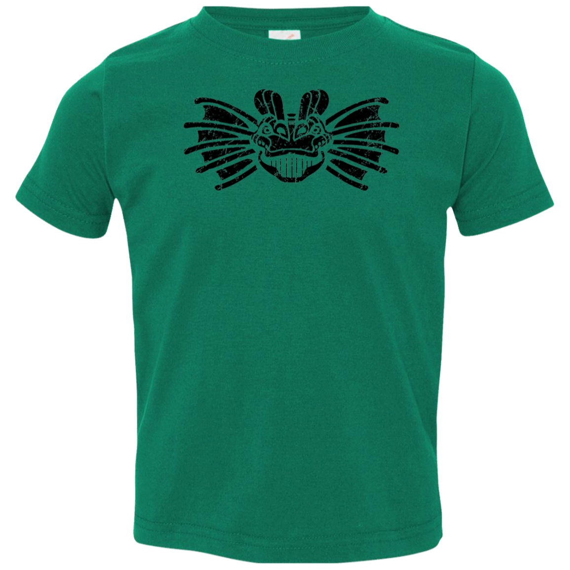 Black Distressed Emblem T-Shirt for Toddlers (Dilophosaurus/Frill)