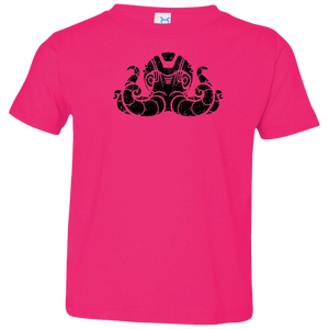 Black Distressed Emblem T-Shirt for Toddlers (Octopus/Matey)