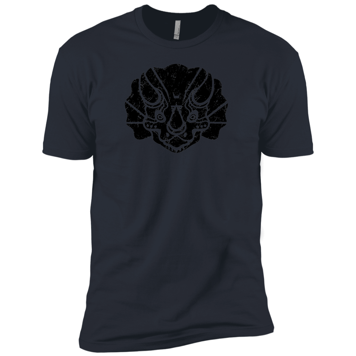 Black Distressed Emblem (Triceratops/Trips) - Dark Corps