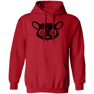 Black Distressed Emblem Hoodies for Adults (Bush Baby/Splicer)