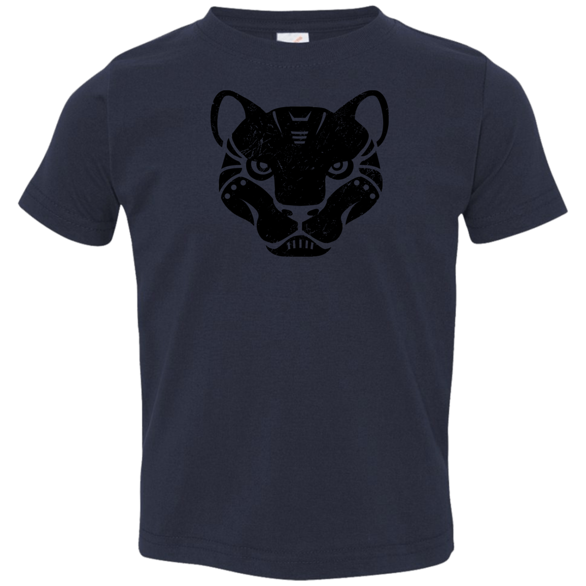 Black Distressed Emblem T-Shirt for Toddlers (Panther/Slash)