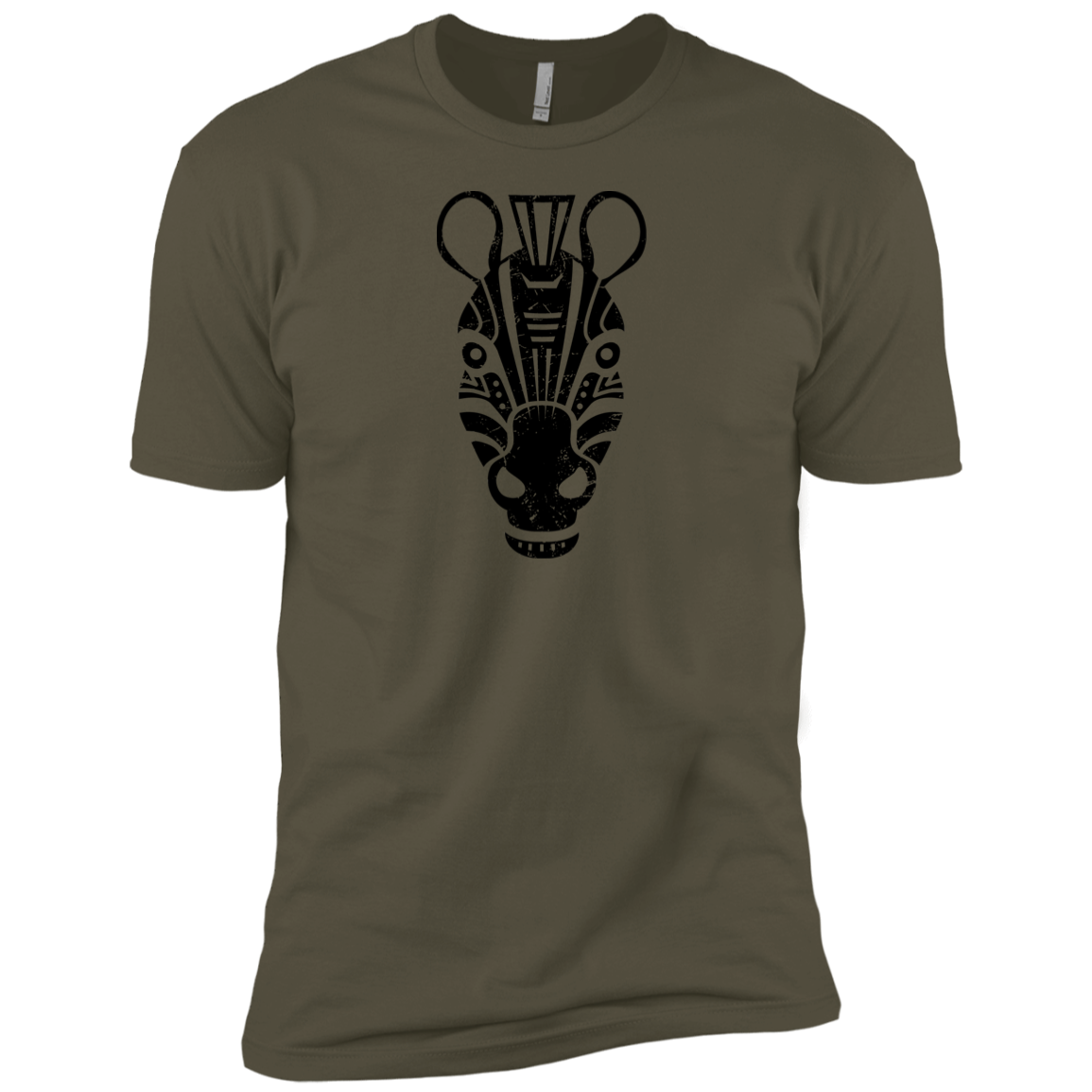 Black Distressed Emblem (Zebra/Stripes) - Dark Corps