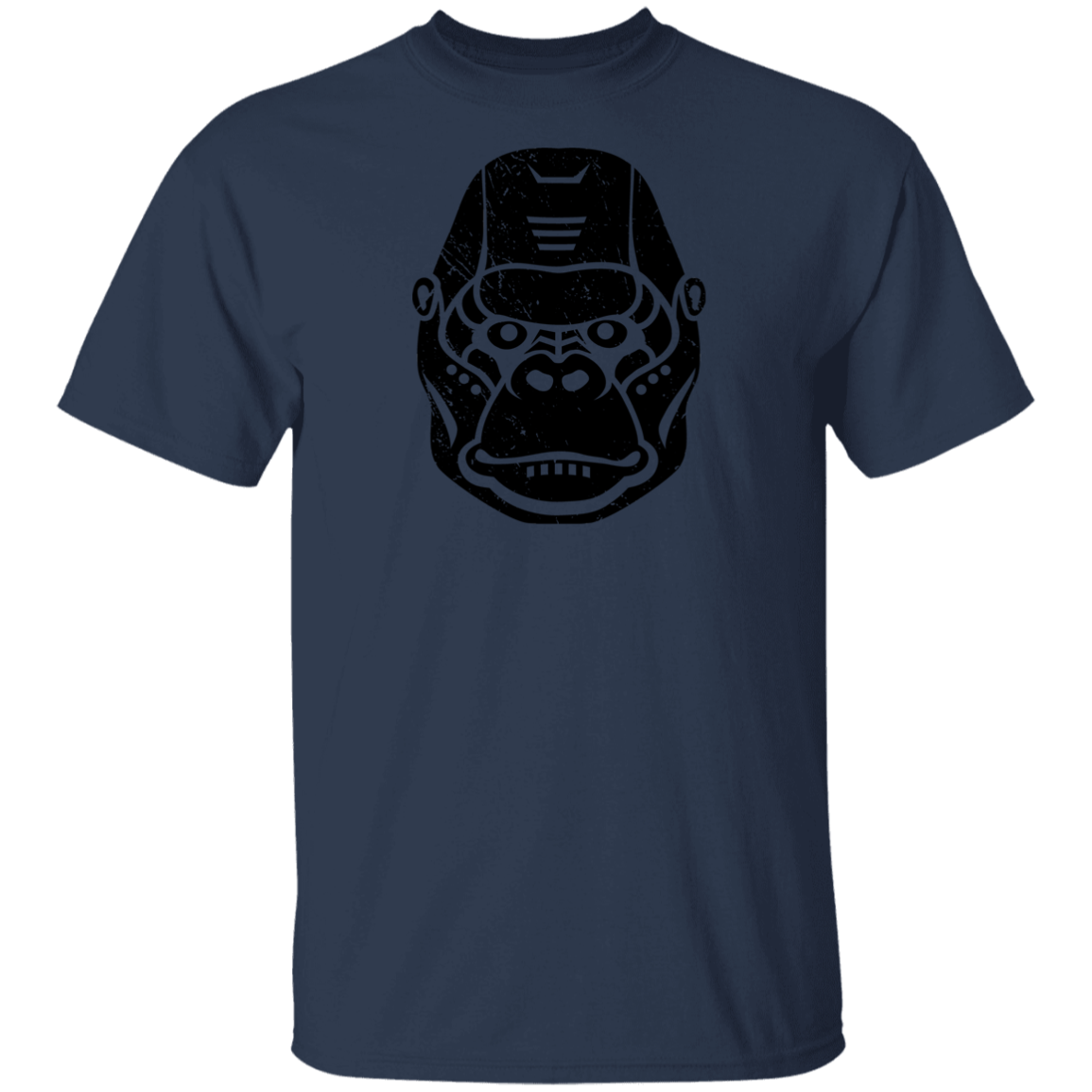 Black Distressed Emblem T-Shirt for Kids (Gorilla/Knuckles)