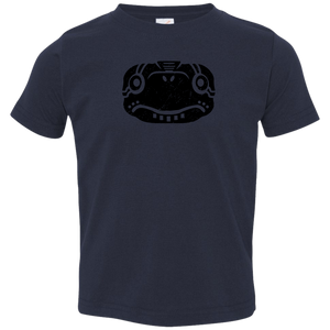 Black Distressed Emblem T-Shirts for Toddlers (Turtle/Pearl) - Dark Corps