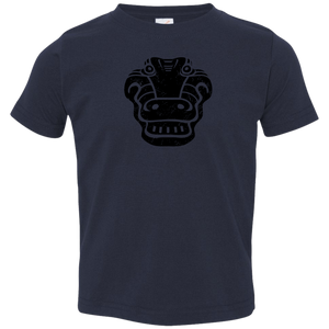 Black Distressed Emblem T-Shirts for Toddlers (Alligator/Croc) - Dark Corps
