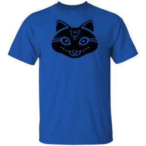 Black Distressed Emblem T-Shirt for Kids (Snow Fox/Snowp)