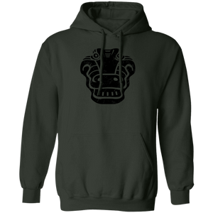 Black Distressed Emblem Hoodies for Adults (Alligator/Croc)